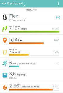 Screenshot z Fitbit aplikace pro Android