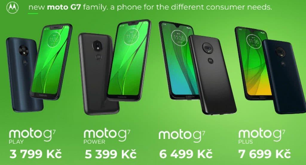 Motorola představuje rodinku nových telefonů Moto G7