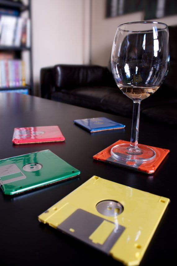 Diskety jako podšálky