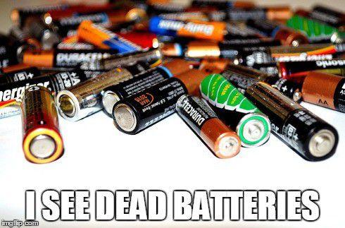 Mrtvé baterky všude