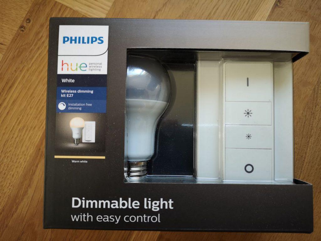 Takto vypadá originální balení Philip Hue vypínače