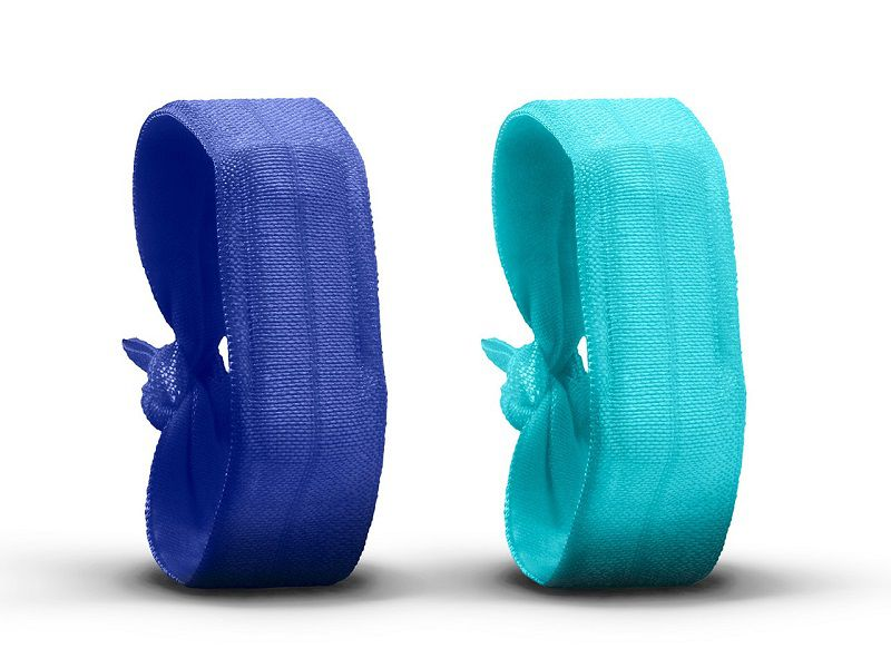 Ribbon Wristband for Fitbit and more, Sapphire/Ocean Spray