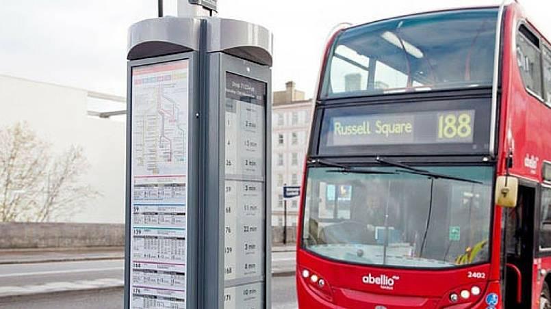 Londýn e-ink info stojan