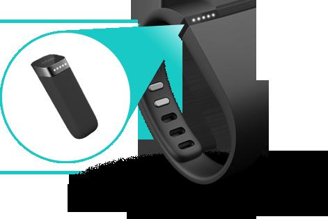 Fitbit tracker v detailu