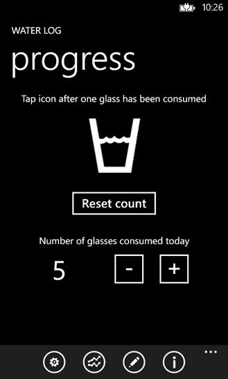 Water Log pro Windows Phone