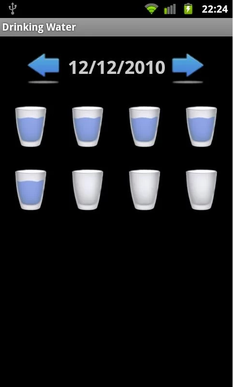 drinking water android