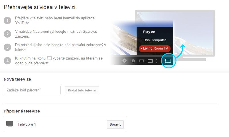 Párování na webu YouTube